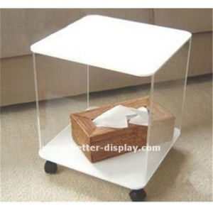 Clear Acrylic Computer Desk with Chairs (BTR-Q2006) pictures & photos