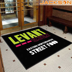 Fashion New Brand Nylon Printed Logo Floor Door Mat