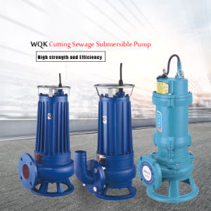 4′ WQK Cutting Sewage Submersible Pump pictures & photos