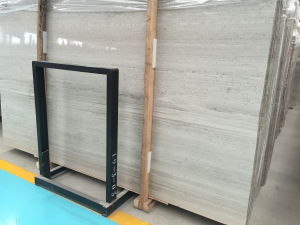 Chinese White Wood Grain Marble Slabs for Wall/Floor pictures & photos
