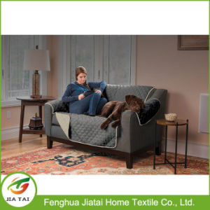 Custom Polyester Couch Coat Convenient Reversible Sofa Cover