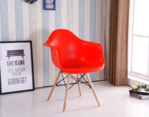 Modern Plastic Eames Dining Chair with Beech Wood Legs for Home
