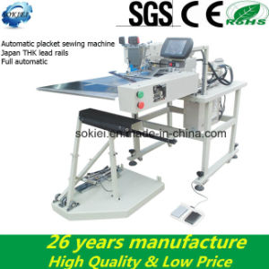 Full Automatic Computer Placket Setter Sewing Machine for Jeans pictures & photos