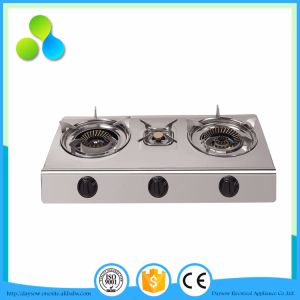 3 Burners Stainless Steel Table Gas Stove, Cooking Stove