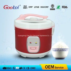 China Red Color Deluxe Rice Cooker with Glass Window Lid pictures & photos