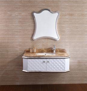 The Middle East Popular Design Stainless Steel Bathroom Vanity for Luxury Hotel pictures & photos