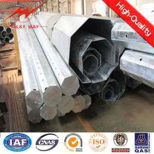 Custom Power Transmission Angle Steel Pipe Pole pictures & photos