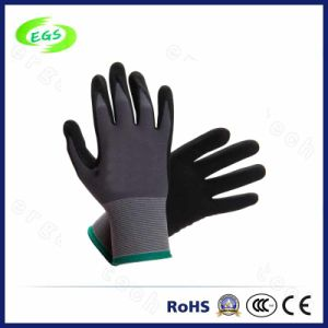 Nitrile Coated Polyester Shell Labor Protective Safety Gloves pictures & photos