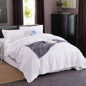 Cotton White Hotel Bed Linen, Hotel Duvet Cover Bedding Set pictures & photos