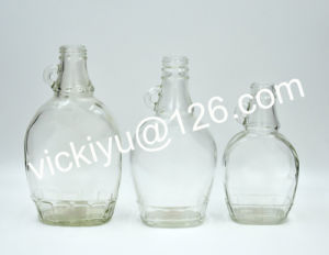 180ml, 250ml, 350ml Classic Flat Glass Oil Bottles, Vinegar Bottles with Ear