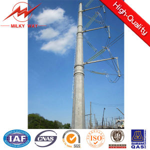 BV 15m 12kn Outdoor Galvanized Steel Tubular Pole for Africa