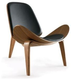 Replica Three  Leg Bent Plywood Hans Wegner Shell Chair