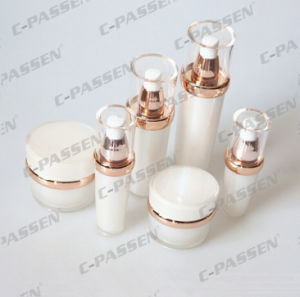 Pearl White Acrylic Cream Lotion Bottle for Cosmetic Packaging (PPC-ALB-040) pictures & photos