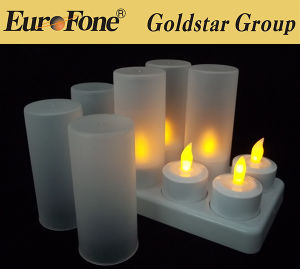 Plastic Material White Body Flameless LED Candle pictures & photos