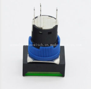 16mm Square Latching with LED Push Button Switch pictures & photos