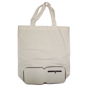 Foldable 100% Cotton Shopping Bag and Canvas Tote Bag