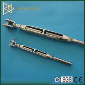 Stainless Steel Open Body Jaw Turnbuckle with Bar