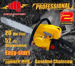 Ce Certified Garden Tools 52cc Easy Start Gasoline Chainsaw (CS-5200)