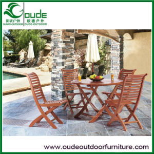Wooden Folding Garden Table Set
