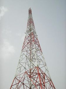 120meters Telecommunication Square Lattice Steel Tower to Angola for GSM Project