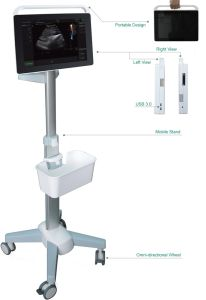 15 Inch Touch Screen Color Doppler Ultrasound Machine pictures & photos
