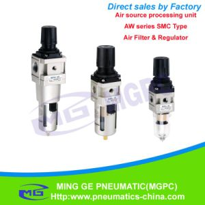 SMC Type Air Filter and Regulator Combination (AW Series)