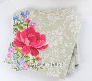Paper Napkin with Colorful Printed