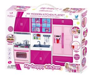 China 3 In 1 Pink Color Kitchen Toys Set With Gift Box China Kitchen Toys And Baby Toys Price