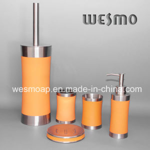 Rubber Oil Coating Stainless Steel Bathroom Accessories Set (WBS0509D) pictures & photos