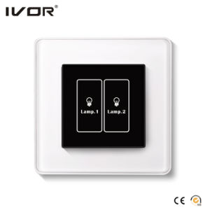2 Gangs Lighting Switch Touch Panel Aluminum Alloy Outline Frame (HR1000-AL-L2-B) pictures & photos