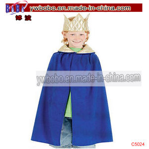 King Blue Robe Crown Childs Fancy Dress Kids Costume (C5024) pictures & photos