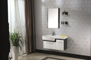 Ceramic Countertop High Quality Solid Wood Bathroom Cabinet