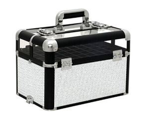 Crystal White Professional Makeup Nail Artist Cosmetic Train Case Organizer Storage pictures & photos