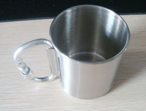 Double Wall Stainless Steel Camping Cup with Mountaineering Buckle pictures & photos