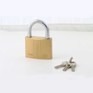 Dual-Line Imitate Brass Padlock with Atom Key 20mm to 75mm Avaliable pictures & photos