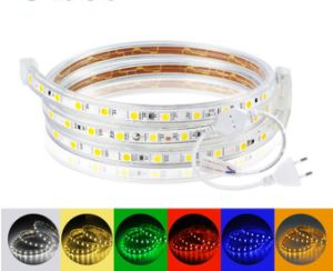 1-20M SMD 5050 RGB LED Strip Light IP68 Waterproof Flexible 60LEDs//m With Remote