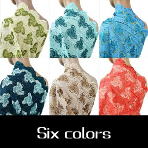 Coral Color African Dry Cotton Voile Lace Fabric pictures & photos