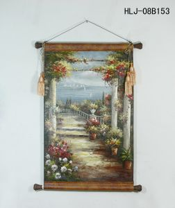 Seaside Flower Gallery Pattern Home Decorative Canvas Hanging Painting