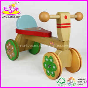 2015 New Style Kids Wooden Tricycle Toys, Safety Baby Tricycle, Ride on Car W16A003 pictures & photos
