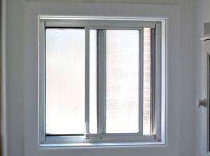 Bathroom Aluminium Sliding Windows With Sand Blasted Opaque Glass