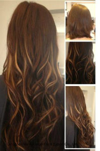Ombre Color Invisible PU Skin Tape Human Remy Hair Extension