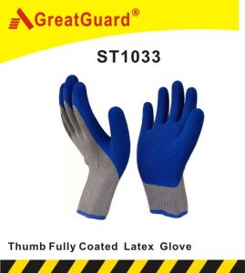 Thumb Fully Coated Latex Glove pictures & photos