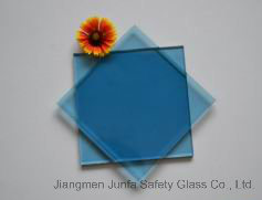 Blue PVB Laminated Glass with ASTM Standard