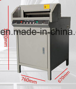 G450V+ Electric heavy duty stack Paper Cutting Machine cut 40mm thickness pictures & photos