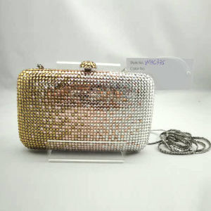 Crystal Evening Bag (WHC335-2GOLD+SILVER)