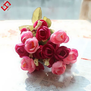 European High-Grade Artificial Flowers Rose Silk Suit Roses Flower Vase