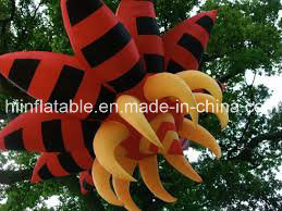 6m Gaint Opening Inflatable Flowers for Outdoor Decoration, Inflatable Lighting Flower