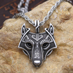 China 3colors norse vikings pendant necklace nordic celtic wolf head 3colors norse vikings pendant necklace nordic celtic wolf head animal jewelry aloadofball Image collections