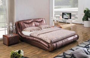 Round Headboard Bedroom Furniture Modern Leather Queen Bed