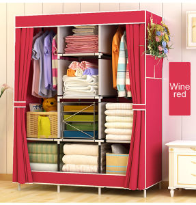 High Quality Non Woven Fabric Wardrobe With Modern Design Bedroom Cabinet  Shoe Closet